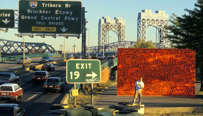 nyc street art keith haring mural crack is wack