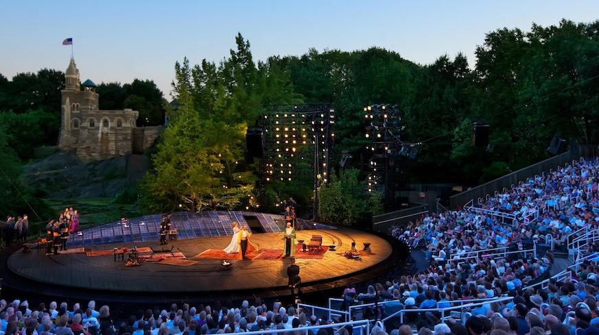 shakespeare in the park delacorte theater