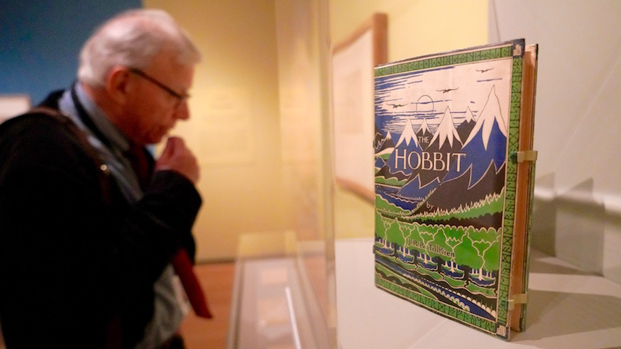 jrr tolkien exhibit middle earth hobbit lord of the rings morgan library