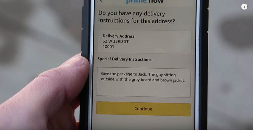 How to use Amazon Prime Now to help homeless people