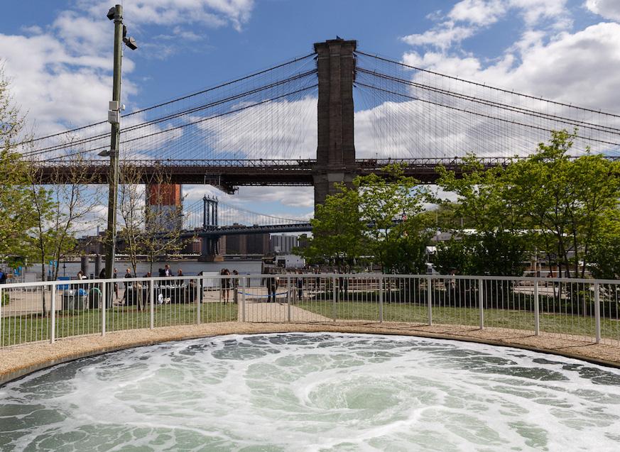 Anish Kapoor's Descension in Brooklyn Bridge Park