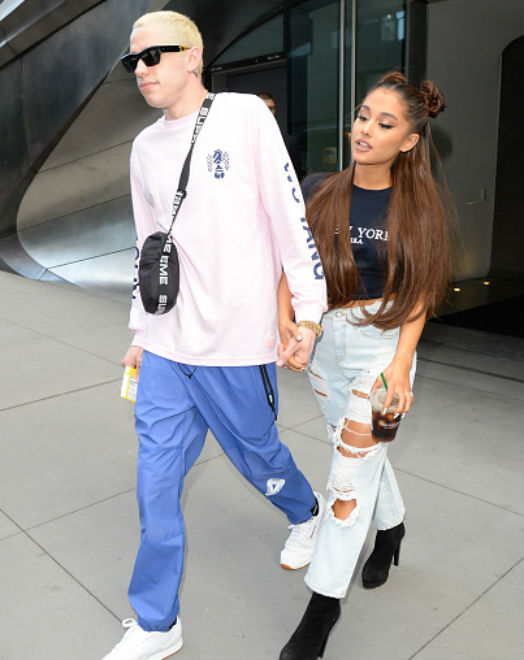 Ariana Grande and Mac Miller broke up. She's now engaged to Pete Davidson