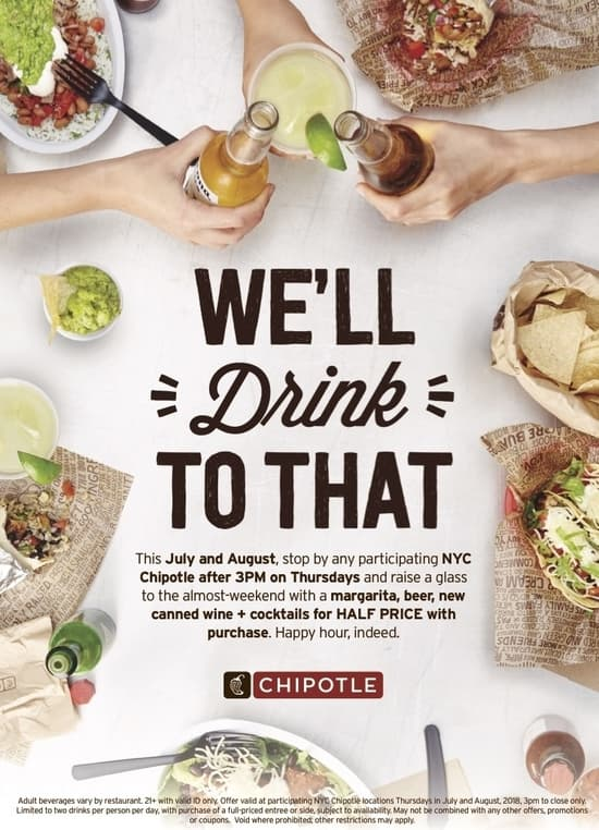 Chipotle Happy Hour Flyer