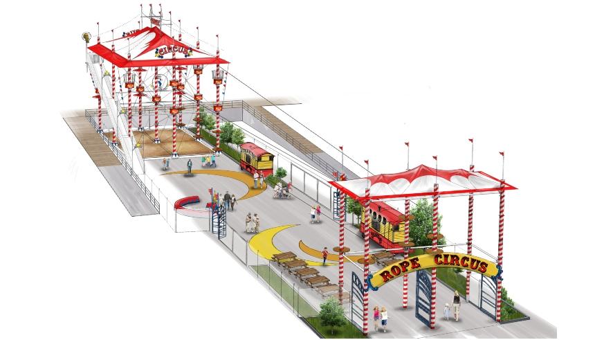 coney island luna park amusement park expansion log flume ropes course zip line