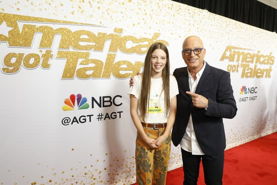 Courtney Hadwin and Howie Mandel America's Got Talent