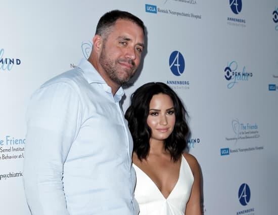 Demi Lovato with former sober coach Mike Bayer