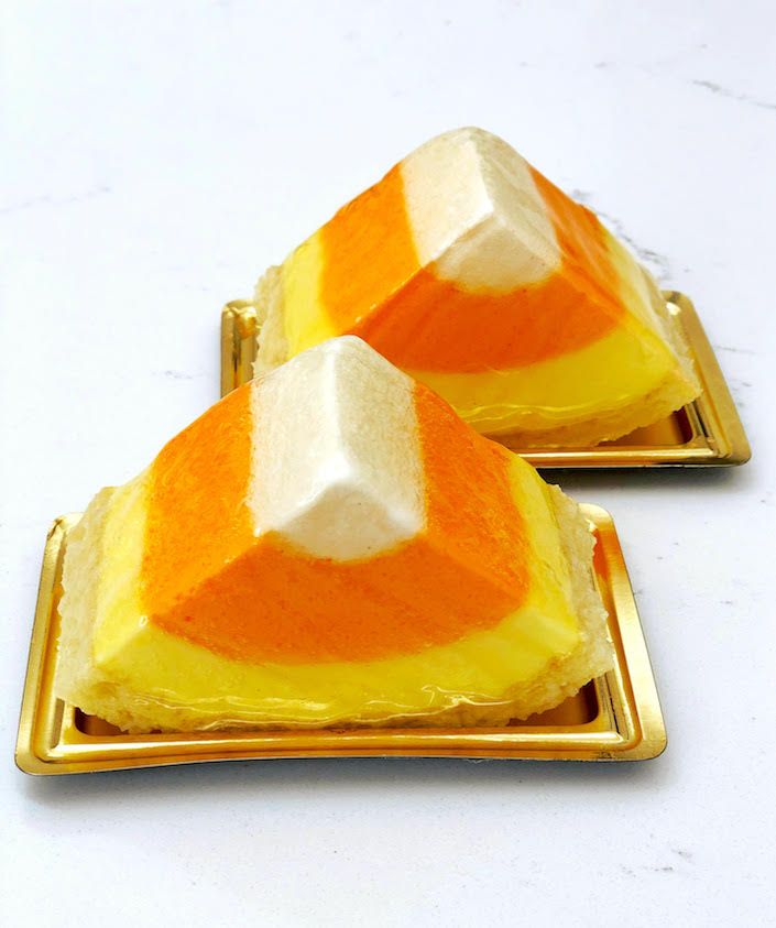candy corn mousse cake dominique ansel halloween 2018