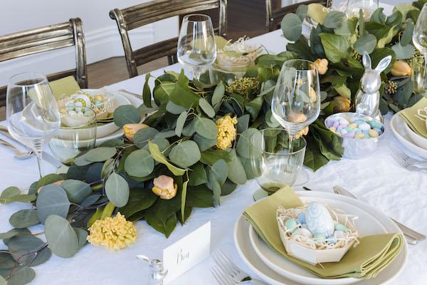Easter DIY Table Runner Garland