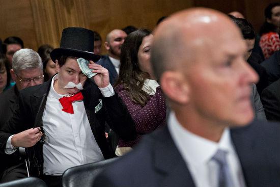Equifax Senate Hearing Monopoly Man