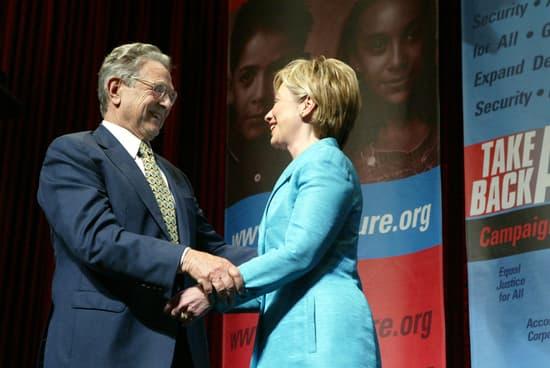 George Soros and Hillary Clinton