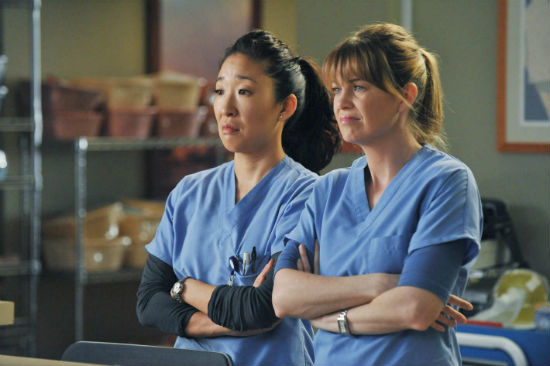 grey's anatomy scrubs meredith and christina