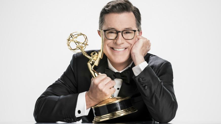 2017 Emmys Stephen Colbert Host