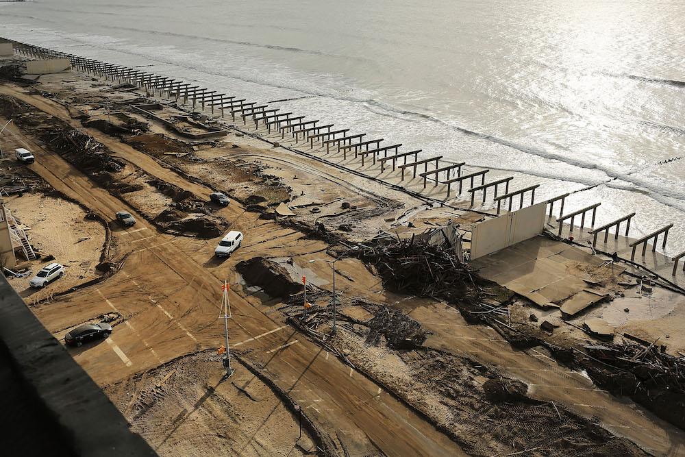 hurricane sandy twa hotel sand donation jamaica bay