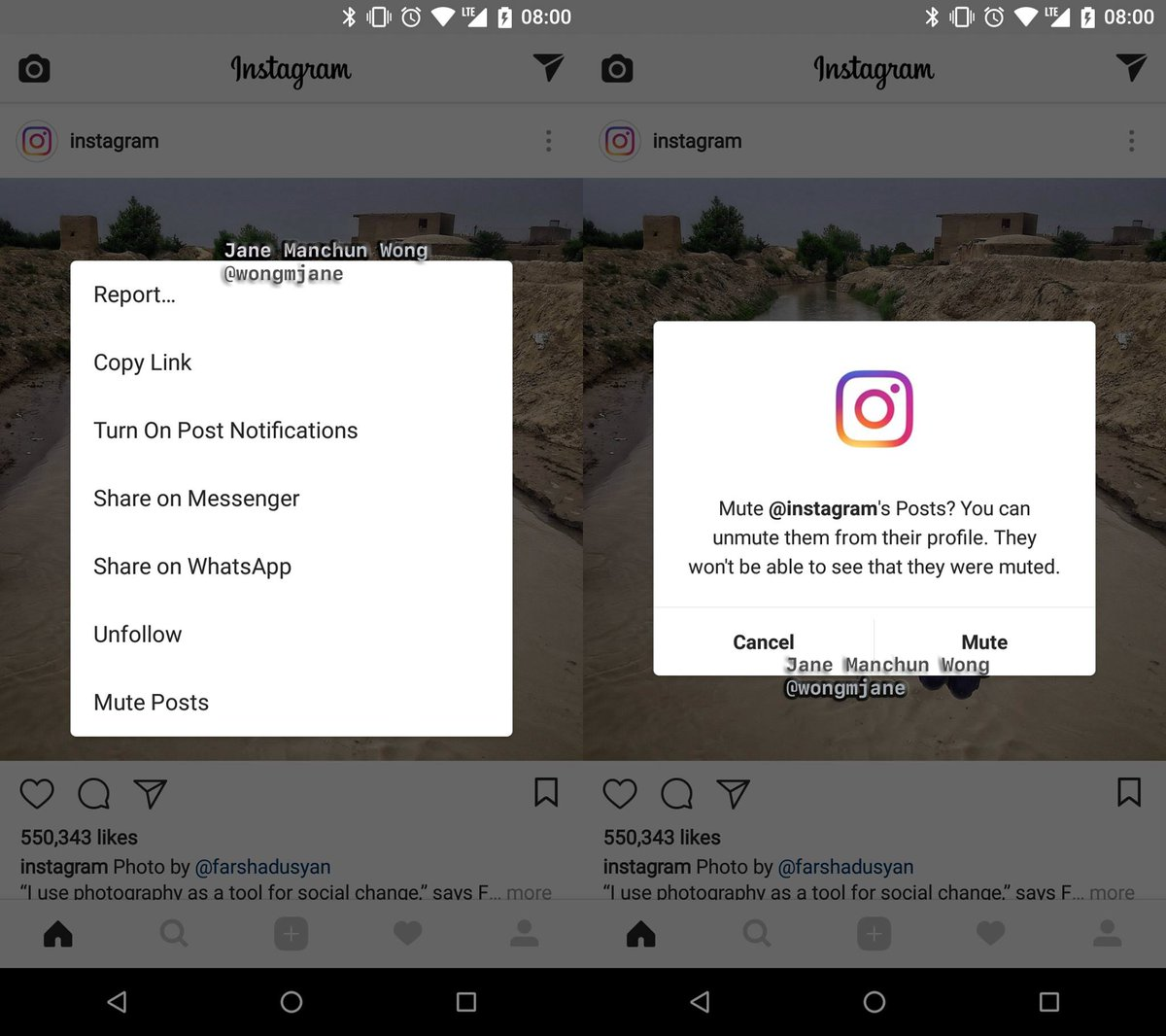 Instagram possibly rolling out new mute button