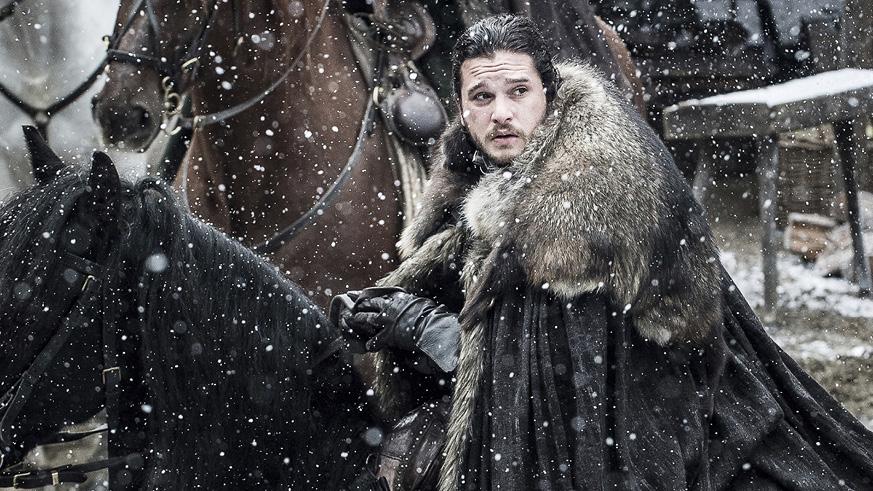 Jon Snow in Snow Game of Thrones Season 7