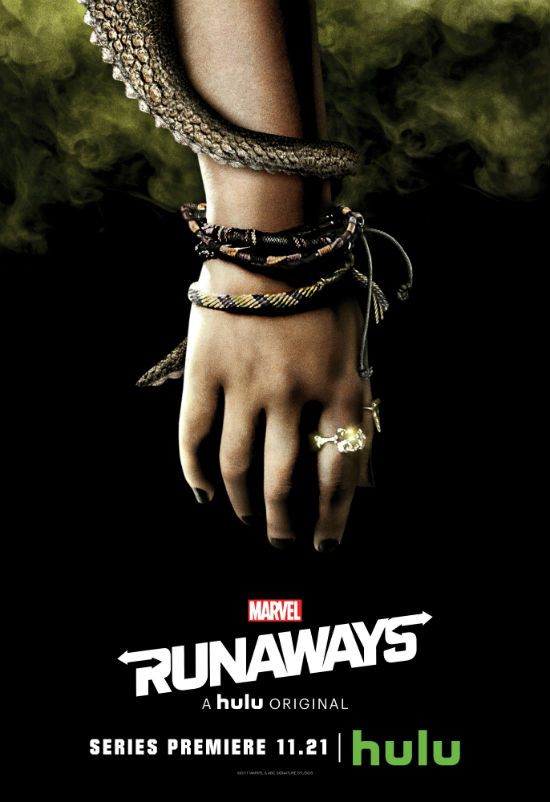 Marvel's Runaways Character Poster Hulu