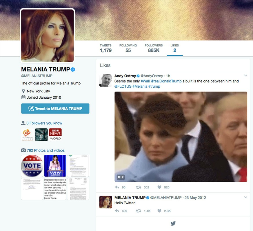 Melania Trump Twitter