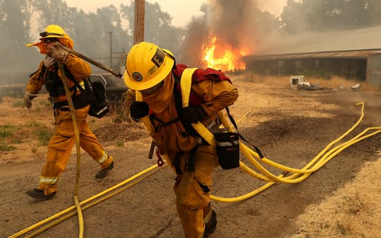 Firefighters battling the Mendocino Complex Fire