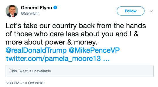 Michael Flynn Russian Troll Accounts Pamela