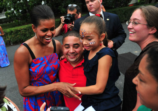 Michelle Obama arms