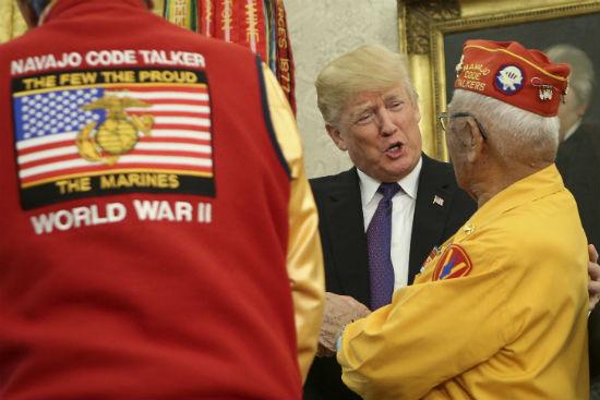 Navajo Code Talkers Trump