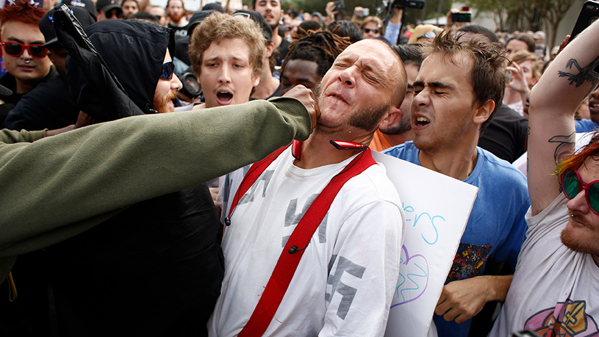 Nazi gets punched in face during Richard Spencer event in Florida