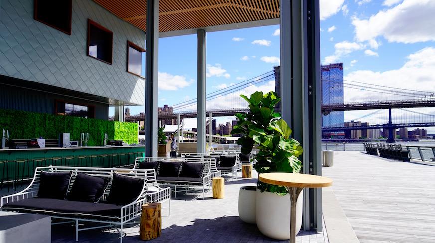pier 17 seaport district heineken riverdeck outdoor bars nyc