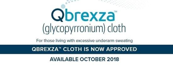 Qbrexza to stop underarm sweating