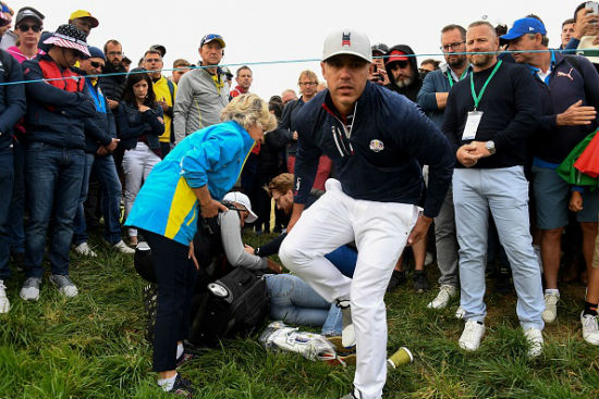Brooks Koepka hits female spectator at Ryder Cup with 6th hole tee shot