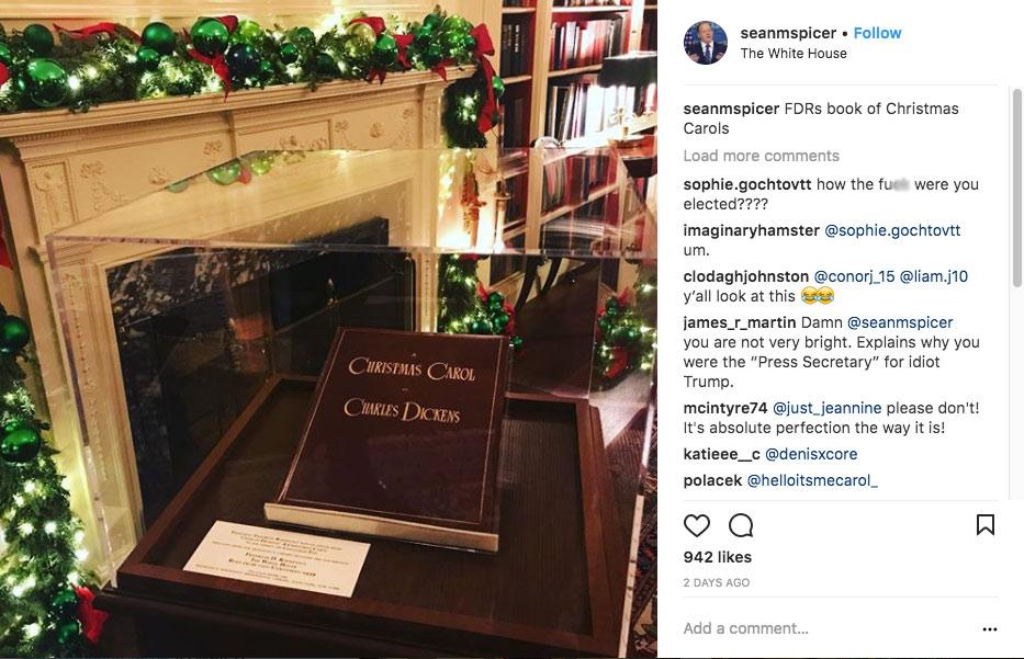 Sean Spicer, A Christmas Carol