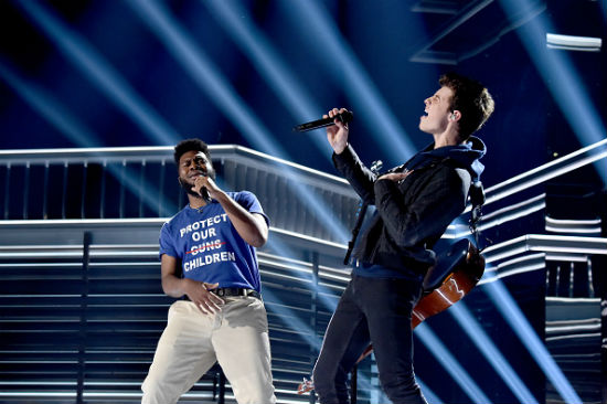 Stoneman Douglas High School show choir performed with Shawn Mendes