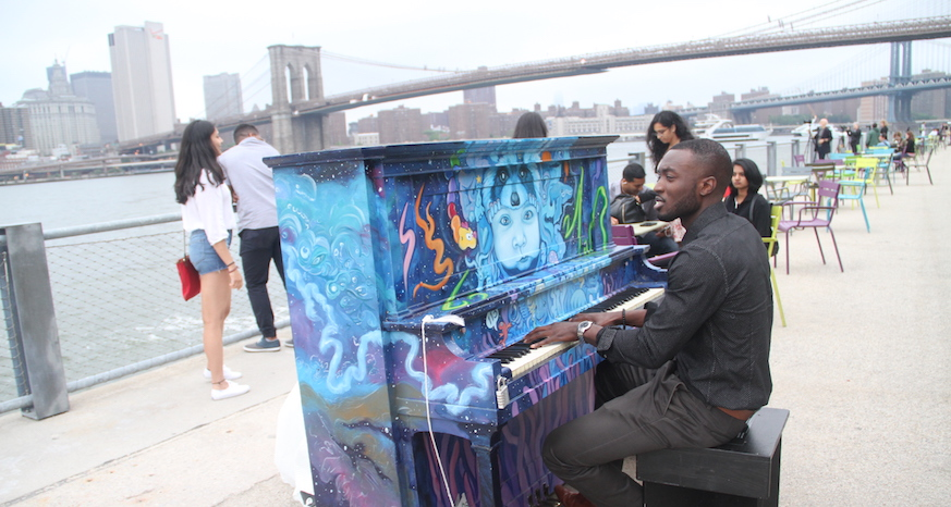 Sing for Hope pianos Brooklyn Bridge Park Jessica Stack