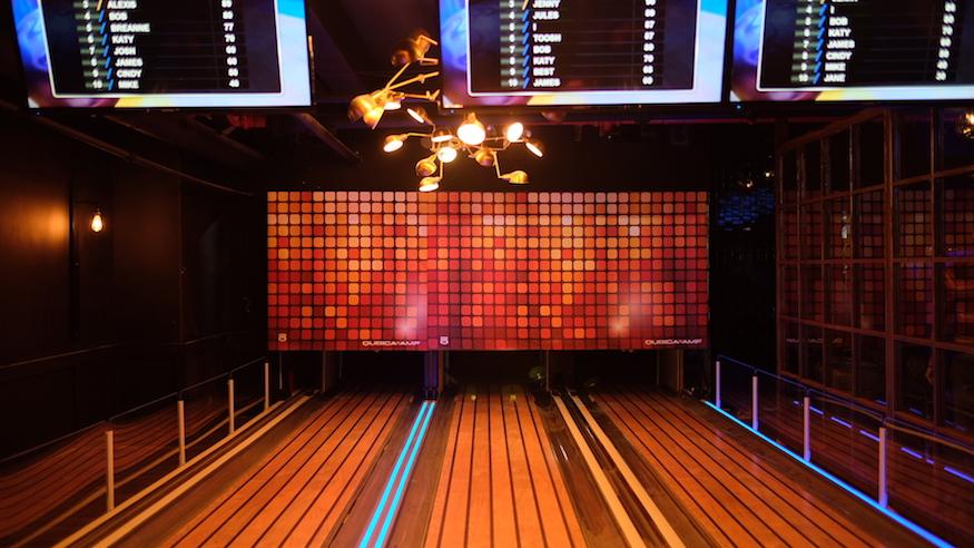 slate ny indoor slide bowling nightclub sports bar adult playground nyc nightlife
