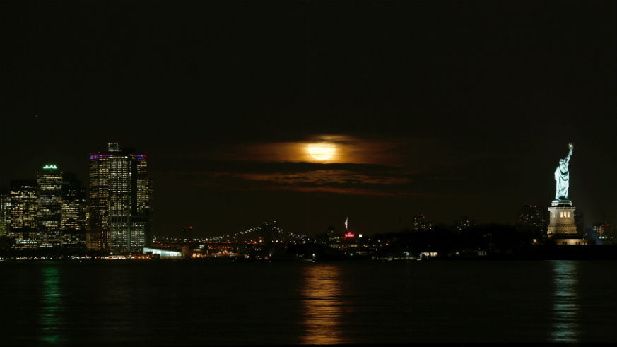 Super Moon Tonight New York City