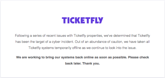 ticketfly cyber attack
