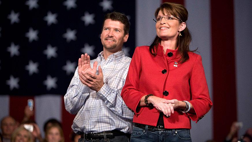 Todd Palin and Sarah Palin, parents of Track Palin
