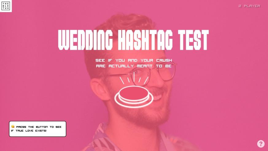 The Black Tux Wedding Hashtag Generator