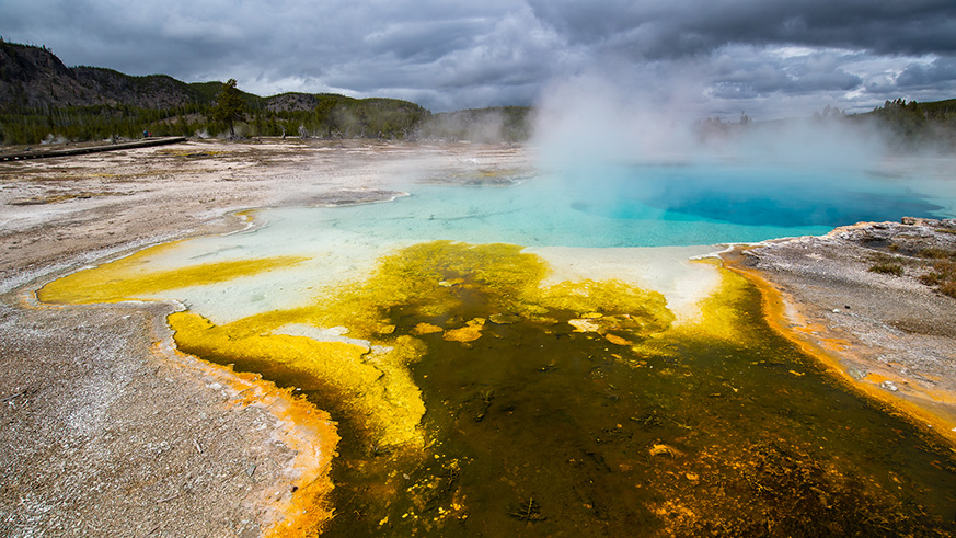 Yellowstone National Park Supervolcano location underneath ground