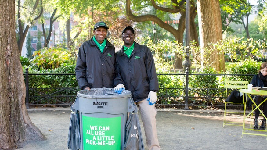 zero waste nyc union square partnership union square park sustainability recycling trash garbage